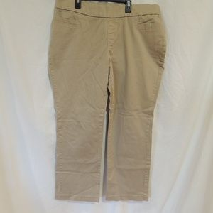 Lee Womens style up pull on pants straight leg 20M